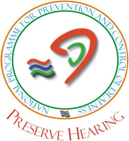 Preserve Hearing logo of National Programme for Prevention and Control of Deafness